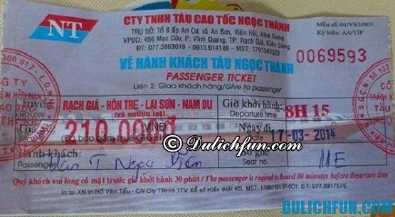 Du lịch đảo Nam Du thuận lợi, an toàn, tiết kiệm và chi tiết nhất: mua vé tàu du lịch đảo Nam Du ở đâu? Giá vé tàu du lịch đảo Nam Du bao nhiêu tiền