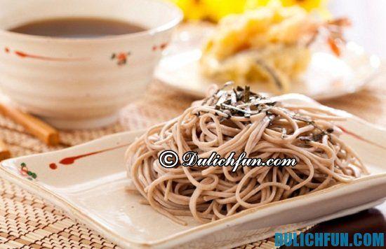 Mì Soba, món ăn ngon, đặc sản nổi tiếng ở Tokyo? Khám phá những món ăn ngon nhất ở Tokyo