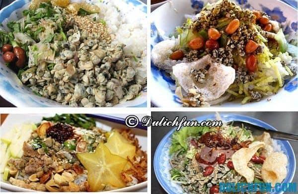 Món ăn ngon hấp dẫn nổi tiếng khi du lịch ở Huế, món cơm hến. Món ăn thơm ngon, bổ dưỡng tại Huế. Đặc sản Huế phong phú đa dạng