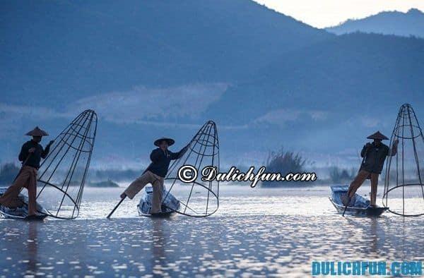KInh nghiệm du lịch hồ Inle, Myanmar. Khám phá hồ Inle. Cẩm nang du lịch hồ Inle