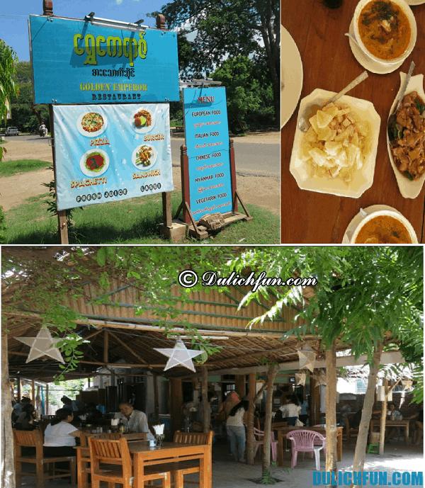 Những nơi ăn uống ngon, giá rẻ, đặc sản ở Bagan: Nhà hàng, quán ăn ngon nổi tiếng ở Bagan, Myanmar