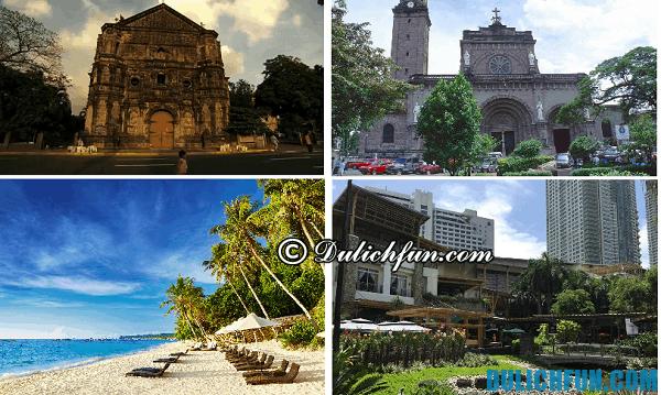 Những địa điểm vui chơi giải trí nổi tiếng ở Manila- Hướng dẫn kinh nghiệm du lịch Manila Philippines. Chơi ở đâu đẹp, hấp dẫn ở Manila