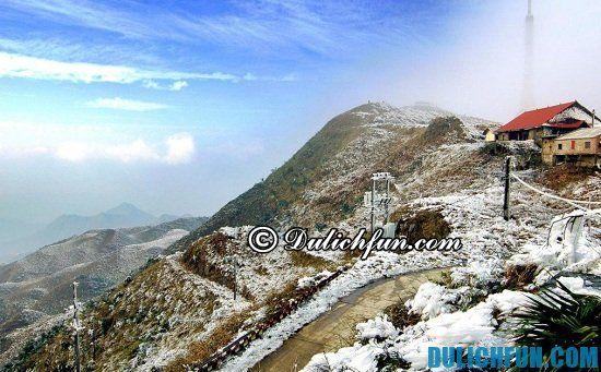 Mẫu sơn điểm ngắm tuyết rơi tuyệt đẹp ở Việt Nam. Đi ngắm tuyết rơi đẹp ở đâu Việt Nam