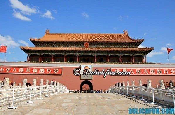 Điểm du hấp dẫn ở Bắc Kinh Trung Quốc. Du lịch Bắc Kinh