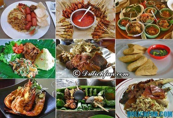 Ẩm thực Bali. Đặc sản Bali. Món ăn ngon ở Bali