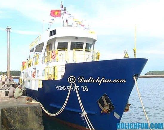 Phương tiện du lịch đảo Phú Quý: Giá vé tàu du lịch đảo Phú Quý mới nhất
