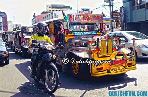 Phương tiện đi lại độc đáo ở Manila- Hướng dẫn và kinh nghiệm du lịch Manila Philippines đầy đủ nhất