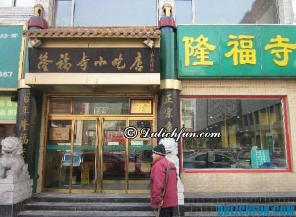 Ẩm thực Bắc Kinh. Địa chỉ ăn uống ngon, rẻ ở Bắc Kinh