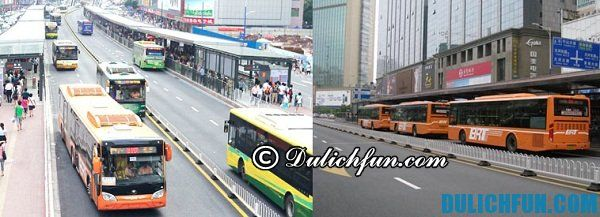 Kinh nghiệm đi xe bus ở Quảng Châu. DU lịch Quảng Châu bằng xe bus