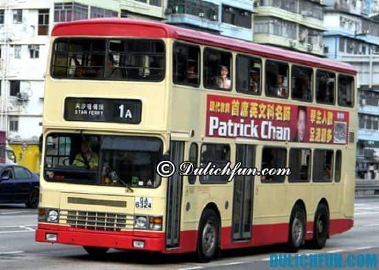 Xe bus, phương tiện di chuyển ở Hồng Kông. Kinh nghiệm du lịch Hồng Kông giá rẻ, tiết kiệm