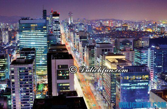 Gangnam, địa điểm tham quan du lịch ở Seoul. Các điểm tham quan du lịch đẹp, nổi tiếng nhất ở Seoul bạn nên ghé thăm