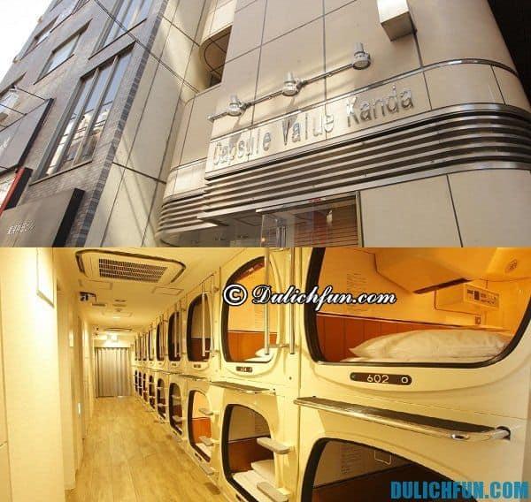 Khách sạn con nhộng ở Tokyo. Nơi ở tốt giá rẻ khi đi du lịch Tokyo. Khách sạn ở Tokyo giá tốt