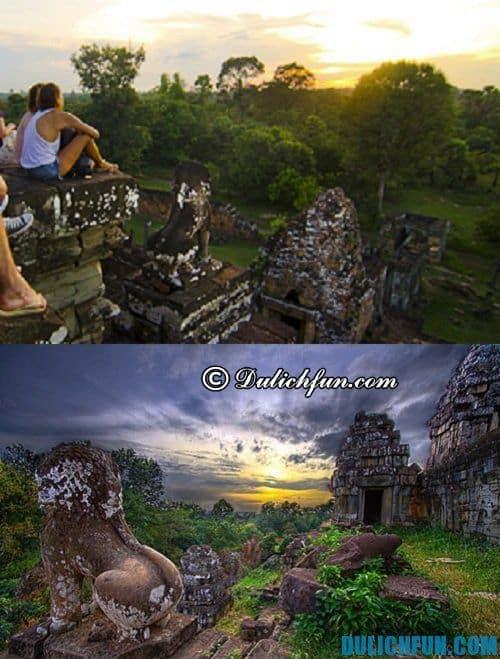 Du lịch khám phá Angkor Wat: ngắm hoàng hôn trên đồi Bakheng
