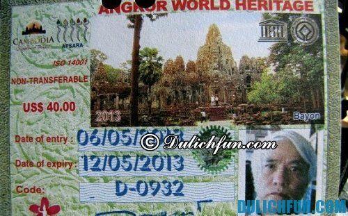 Kinh nghiệm du lịch tham quan Angkor Wat: phương tiện, vé vào cửa tham quan Angkor Wat