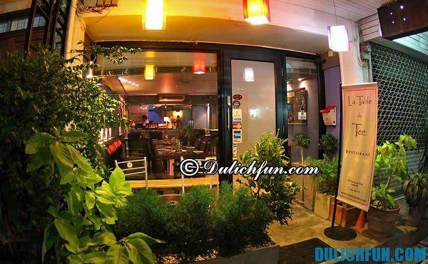 Những địa chỉ ăn uống ngon, sang trọng ở Bangkok/ du lịch Bangkok