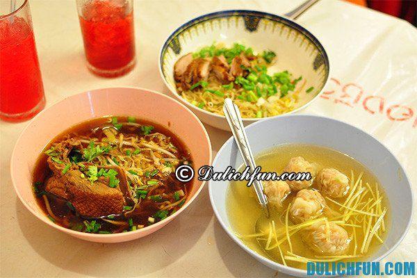 Kinh nghiệm ăn uống ở Bangkok - quán mì ngon nổi tiếng Bangkok