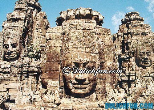 Kinh nghiệm du lịch khám phá Angkor Wat hấp dẫn, lý thú: đền Bayon huyền bí