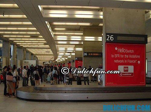 Hướng dẫn làm thủ tục nhập cảnh ở Pháp: thủ tục lấy hành lý ở sân bay