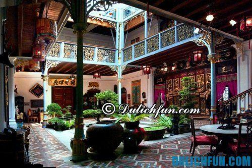 Những địa điểm du lịch ở Penang đẹp mê hồn: nhà cổ Blue Mansion và Peranakan Mansion
