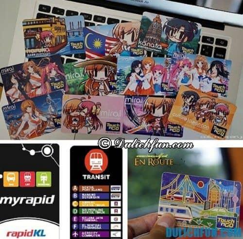 Kinh nghiệm du lịch Kuala Lumpur chi tiết: thẻ chi trả các phương tiện công cộng ở Kuala Lumpur