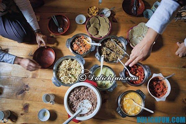 Hướng dẫn du lịch Bhutan - món ăn ngon nổi tiếng ở Bhutan. Du lịch Bhutan nên ăn đặc sản gì?