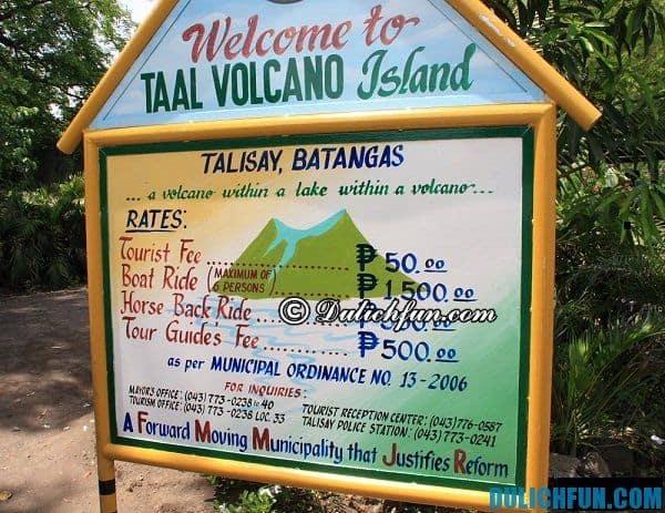 Lịch trình du lịch núi lửa Taal, Tagaytay trong 1 ngày