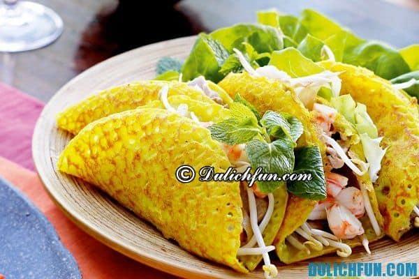 Bánh khoái món ăn đặc sản nổi tiếng ngon ở Huế. Quán bánh ngon ở Huế, quán ăn nổi tiếng ở Huế