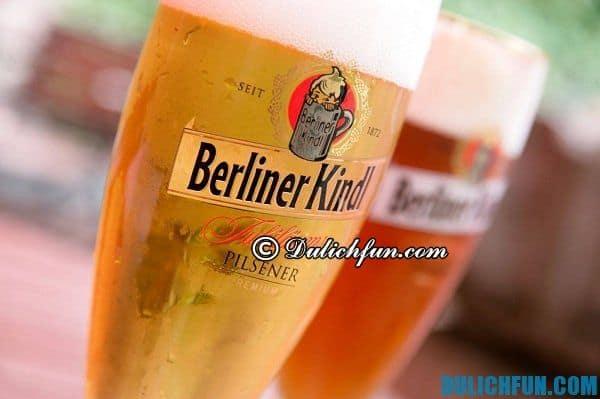 Bia Đức, thức uống ngon ở Đức. Ẩm thực Đức, món ăn ngon nổi tiếng ở Đức.