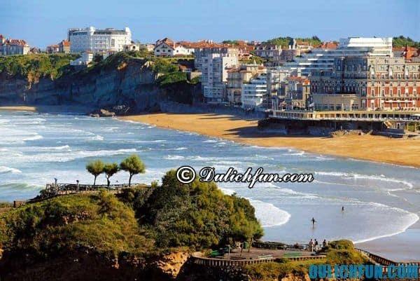 Biarritz bãi biển đẹp, độc đáo ở châu Âu, những bãi biển nổi tiếng, hấp dẫn nhất châu Âu: Châu Âu có bãi tắm nào đẹp?