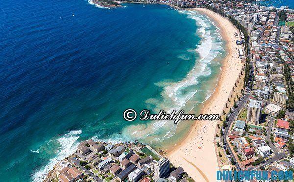 Bãi biển Manly, và các bãi biển đẹp ở Sydney. Địa điểm du lịch đẹp, nổi tiếng ở Sydney