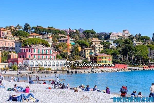 Biển Santa Marghetrita Ligure, một trong những bãi biển đẹp nhất châu Âu. Bãi biển nổi tiếng ở châu Âu. Bãi biển đẹp nhất châu Âu thu hút du khách