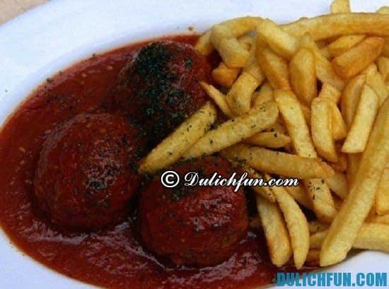 Ăn gì khi du lịch Bỉ? Món Boulet au Sauce Lapin, món ăn ngon, đặc sản nổi tiếng ở Bỉ - Kinh nghiệm du lịch Bỉ