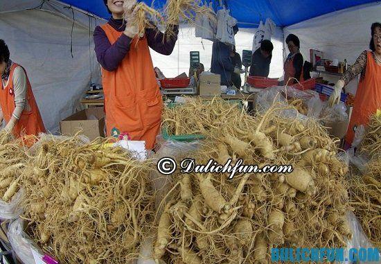 Chợ sâm Bujeon, địa điểm mua nhân sâm giá rẻ, chất lượng ở Hàn Quốc
