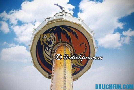 Tiger Sky tower, địa điểm tham quan du lịch đẹp, nổi tiếng trên đảo Sentosa, Singapore