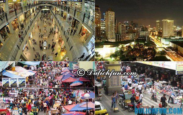 Địa chỉ mua sắm ở Philippines. Du lịch Philippines nên mua sắm ở đâu. Mua gì làm quà khi du lịch Philippines?