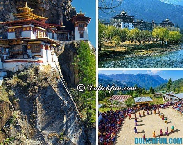 Kinh nghiệm du lịch Bhutan - địa điểm tham quan, vui chơi nổi tiếng ở Bhutan