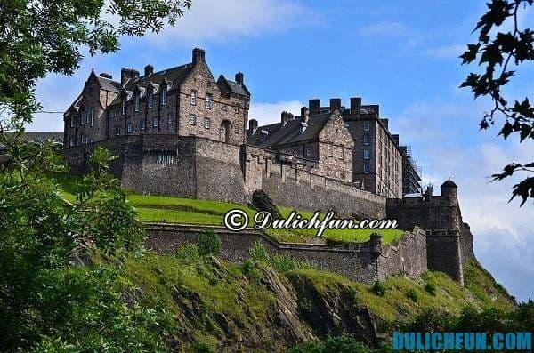 Lâu đài Edinburgh, lâu đài cổ kính nổi tiếng Anh quốc, chiêm ngưỡng những tòa lâu đài đẹp ở Anh