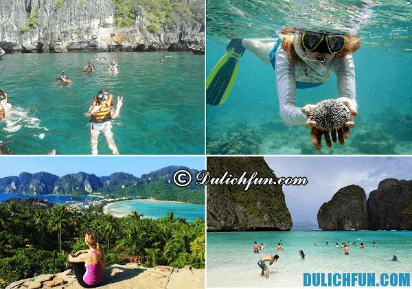Hoạt động du lịch ở đảo Koh Phi Phi, Tư vấn: kinh nghiệm du lịch đảo Koh Phi Phi Thái Lan
