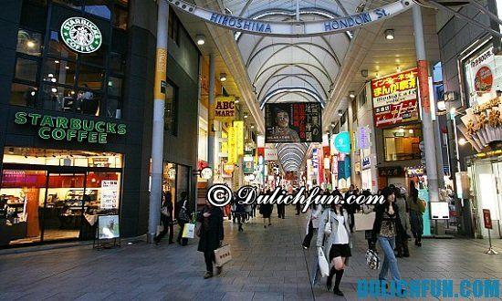 Mua gì, ở đâu khi du lịch Hiroshima? Hondori, địa điểm mua sắm giá rẻ, nổi tiếng ở Hiroshima