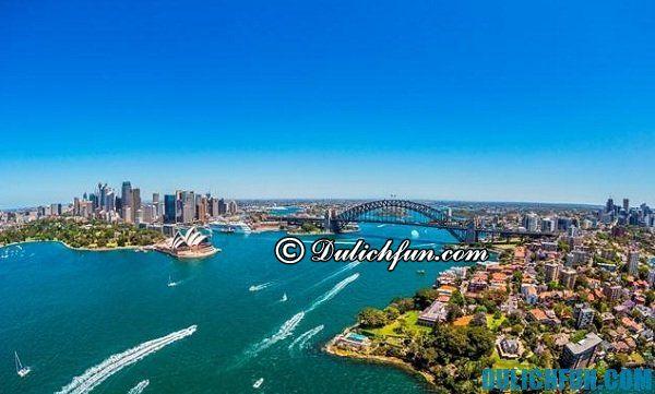 Kinh nghiệm du lịch Sydney: lịch trình, ăn ở, vui chơi thú vị, tiết kiệm. Chuẩn bị, lưu ý và hướng dẫn du lịch Sydney an toàn, rẻ
