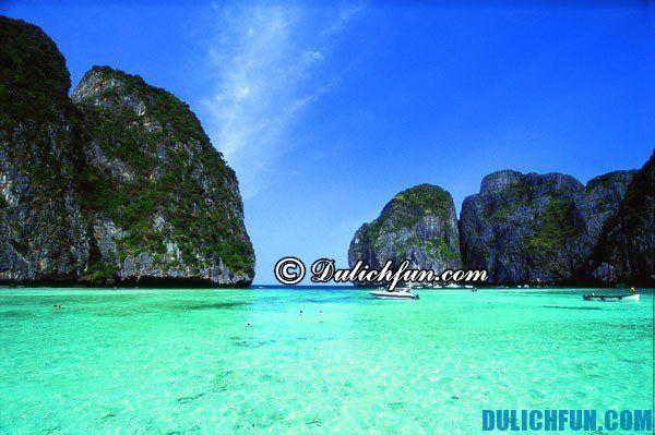 Kinh nghiệm du lịch đảo Koh Phi Phi Thái Lan tự túc tiết kiệm. Hướng dẫn và kinh nghiệm du lịch đảo Koh Phi Phi.