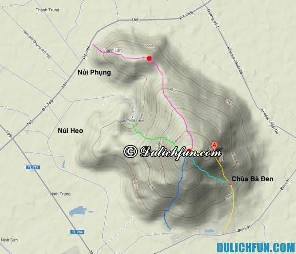 Các con đường bộ leo núi Bà Đen. Kinh nghiệm du lịch núi Bà Đen