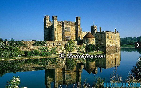 Lâu đài Leeds, lâu đài nổi tiếng nước Anh, du lịch nước Anh khám phá những tòa lâu đài cổ kính nước Anh