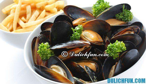 Moules-frites, một trong những món ăn ngon, hấp dẫn ở Bỉ