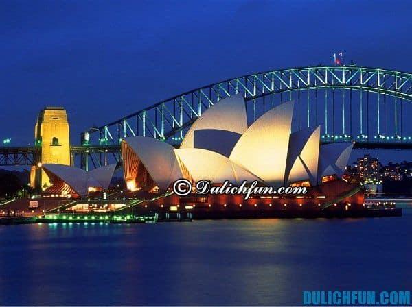 Nhà hát Opera điểm du lịch nổi tiếng ở Sydney đẹp, hấp dẫn. Điểm du lịch lý tưởng tại Sydney