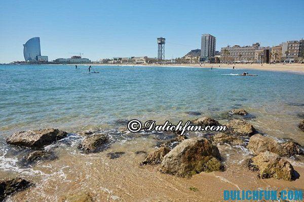Những bãi biển đẹp nhất châu Âu, biển ở Barcelona: Châu Âu có bãi biển nào đẹp