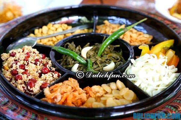 Những món ăn ngon, đặc sản Bagan. Địa chỉ ăn uống, nhà hàng quán ăn ở Bagan. Kinh nghiệm tham quan du lịch Bagan, Myanmar