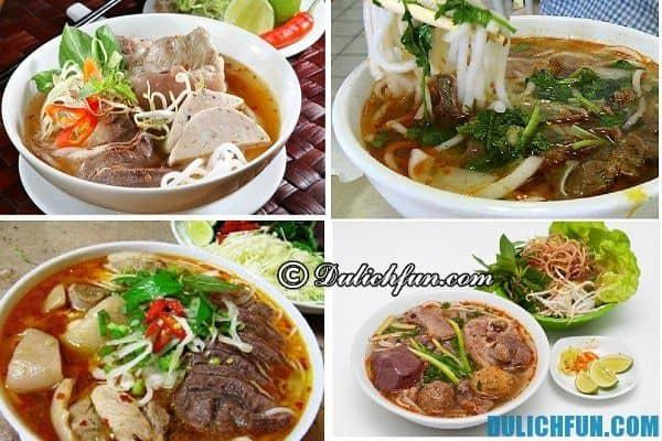 Quán ăn ngon ở Huế, những món ăn đặc sản ngon hấp dẫn ở Huế. Du lịch Huế ăn ở đâu ngon, giá rẻ