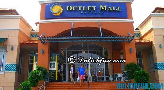 Outlet Mall, địa điểm mua sắm giá rẻ, chất lượng ở Pattaya