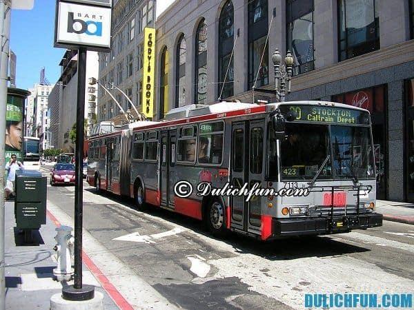 Hướng dẫn du lịch San Francisco - phương tiện di chuyển